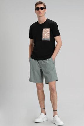 Lufian Mark Modern Grafik T- Shirt Siyah 2