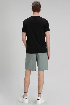Lufian Mark Modern Grafik T- Shirt Siyah 3