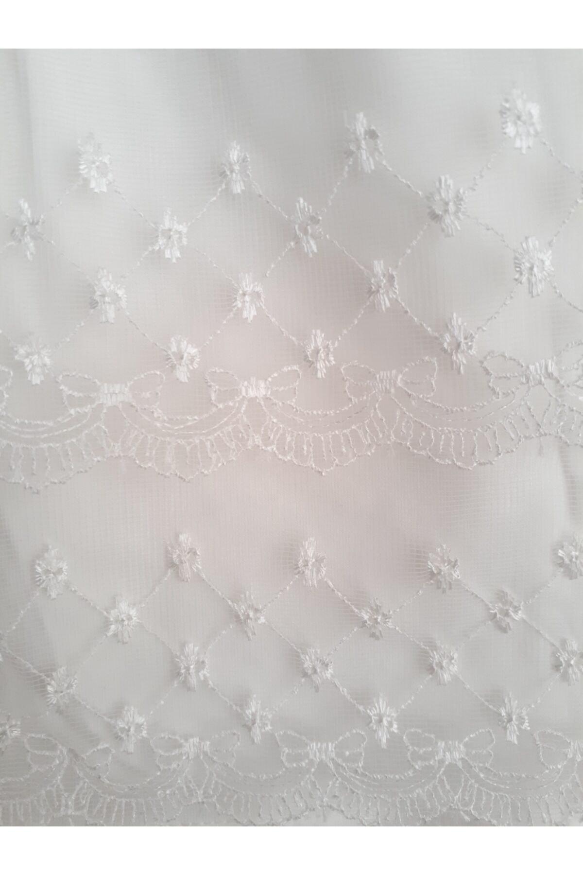 Elvinsa Güpürlü, Özel Gün, Doğum Günü, Beyaz %100 Penye Mini Boy Tunik Elbise