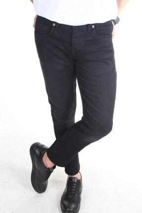 TREND YAŞAR Erkek Füme Düz Slim-fit Likralı Dar Paça Kot Pantolon 1