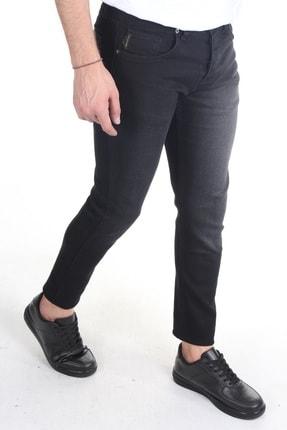 TREND YAŞAR Erkek Füme Düz Slim-fit Likralı Dar Paça Kot Pantolon 2