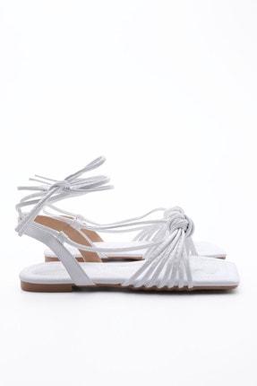 Marjin Kadın Beyaz İpli Sandalet 0