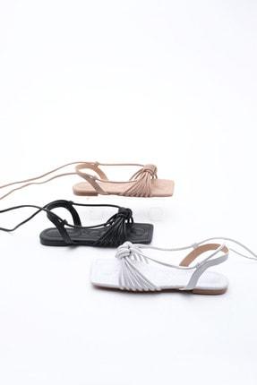 Marjin Kadın Beyaz İpli Sandalet 3