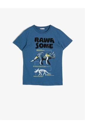 Koton Erkek Çocuk Mavi Tişört 0