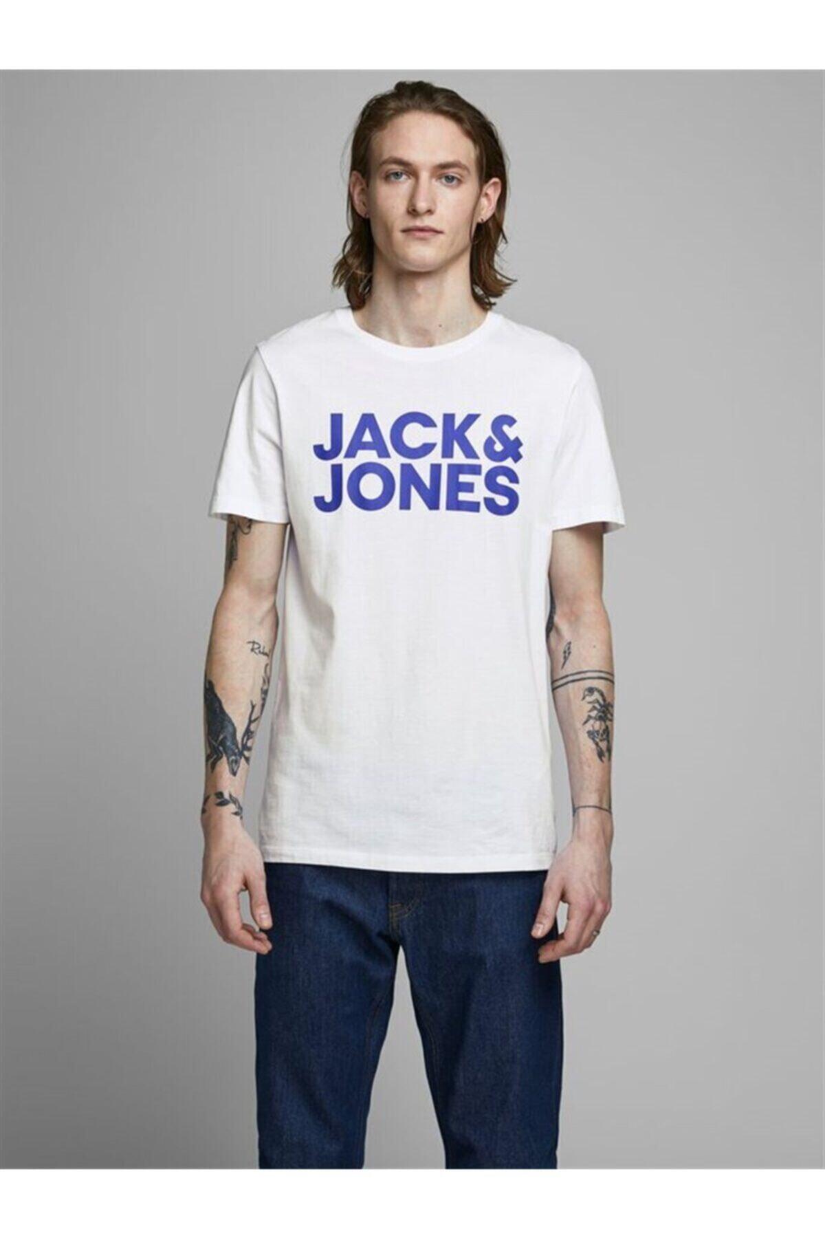 JJECORP LOGO TEE SS O-NEC Beyaz Erkek T-Shirt 101069459