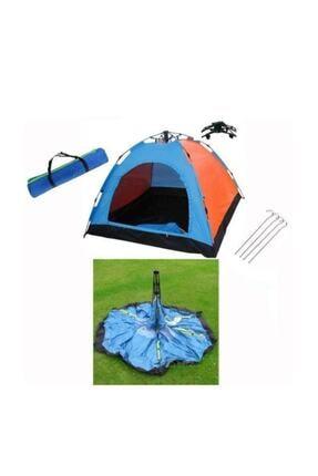 Onetick Dayanıklı Otomatik Kamp Çadırı 250x250x165 8 Kişilik 1