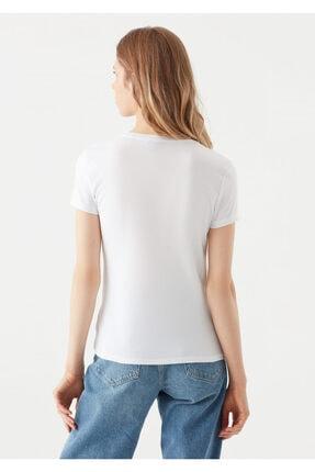 Mavi Beyaz Basic Tişört 3