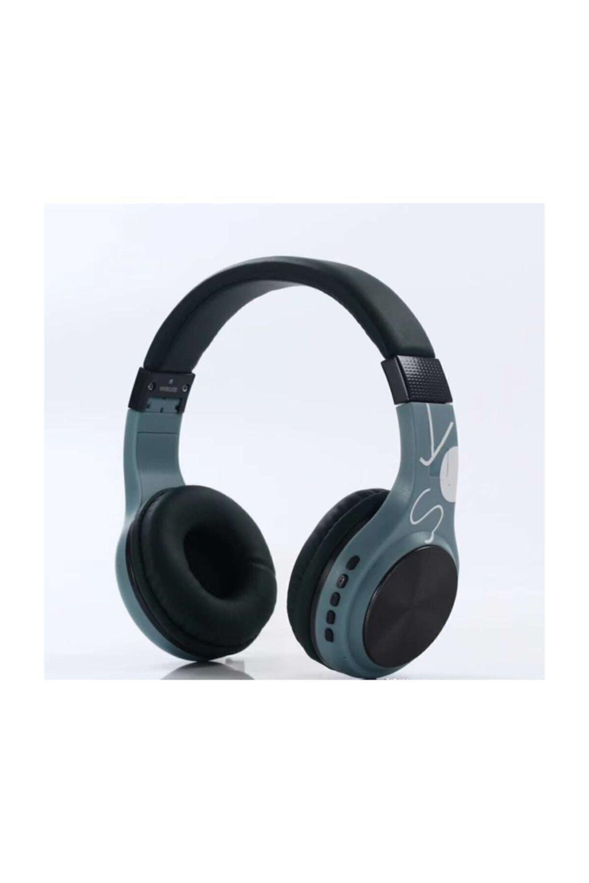 SY-BT1607 Bluetooth Kulaklık Kablosuz SD Kart Girişi Aux Mavi-siyah