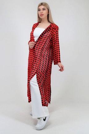 Kadın Kapüşonlu Şifon Kimono resmi