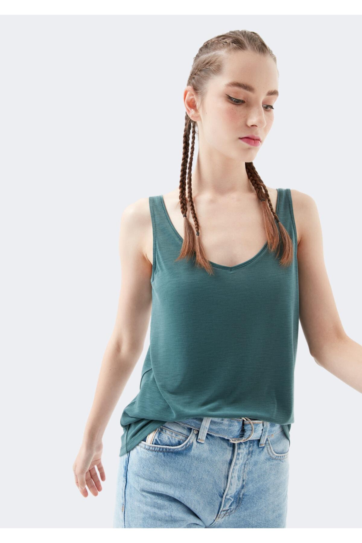 Lux Touch Yeşil Modal Tişört