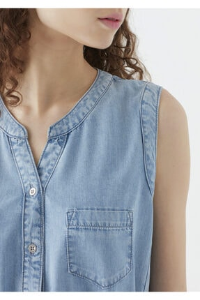 Mavi Suzy Lux Touch Lyocell Denim Elbise 4