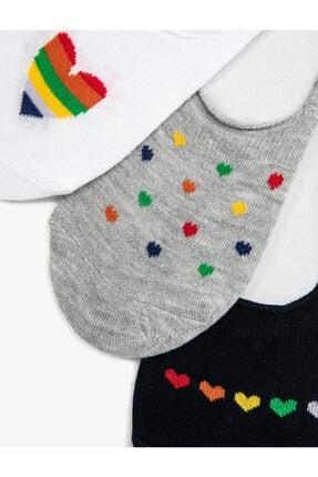 Koton Kadin Beyaz Siyah Gri Çorap Seti 1