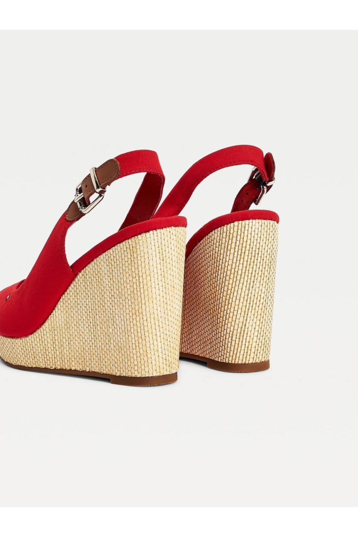 Tommy Hilfiger Kadın / Kız Sandalet ICONIC ELENA SLING BACK WEDGE FW0FW04789