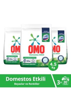 Omo Domestos Etkili Toz Çamaşır Deterjanı 30 Yıkama  4.5 KG  x 3 Adet 0