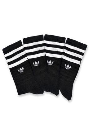 Pofudy Socks Siyah Atletik Çoraplar 4'lü 0