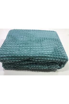 Merinos Yeni Ürün Piramit Çift Kişilik Battaniye Mint Yeşili 0