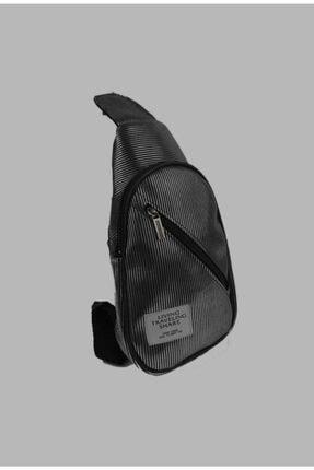 mislina moda Siyah Tırtık Desen 2 Cepli Omuz Çanta 1
