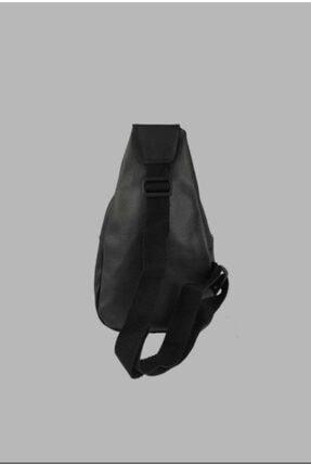 mislina moda Siyah Tırtık Desen 2 Cepli Omuz Çanta 2