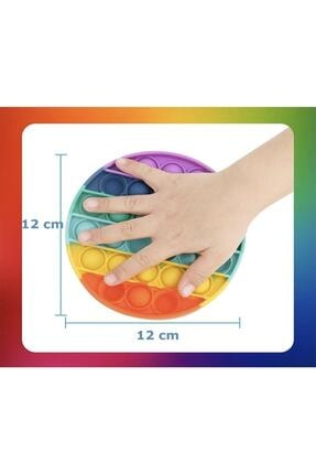 Başel Toys Pop It Push Bubble Fidget Özel Pop Duyusal Oyuncak Zihinsel Stres ( Gökkuşağı / Rainbow ) 1