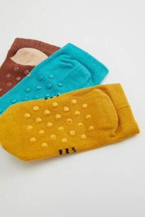 Defacto Erkek Bebek Desenli Soket Çorap 3'lü 1