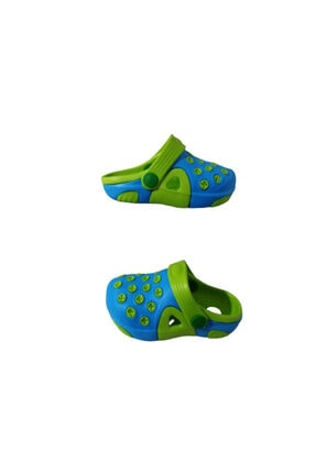 Picture of Ak1987-010 Erkek Bebek Mavi Yeşil Çift Taban Günlük Yürüyüş Sandalet Terlik