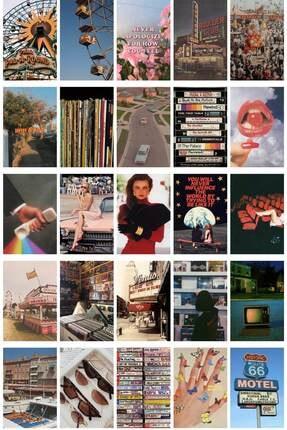 postifull Vintage Poster Seti - Kolaj Set - 100 Adet -retro Poster Seti - 10cm*15cm - Kalın Kağıt - Kutulu Set 1