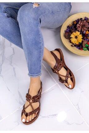 Erbilden Kadın Taba Halatlı Sandalet 2