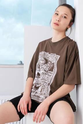 Picture of Baskılı Oversize T-shirt P9577 - B7
