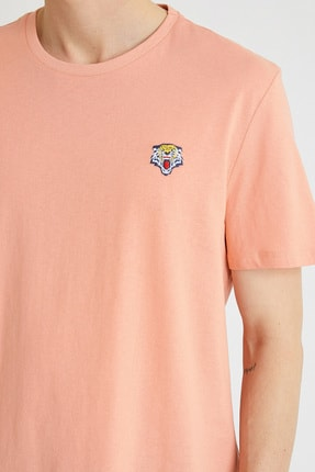 Koton Erkek Mercan T-Shirt 1YAM11591HK 3