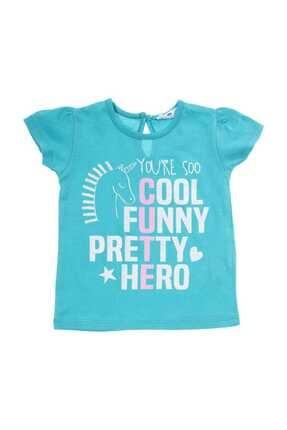 Açık Petrol Kız Bebek T-Shirt resmi