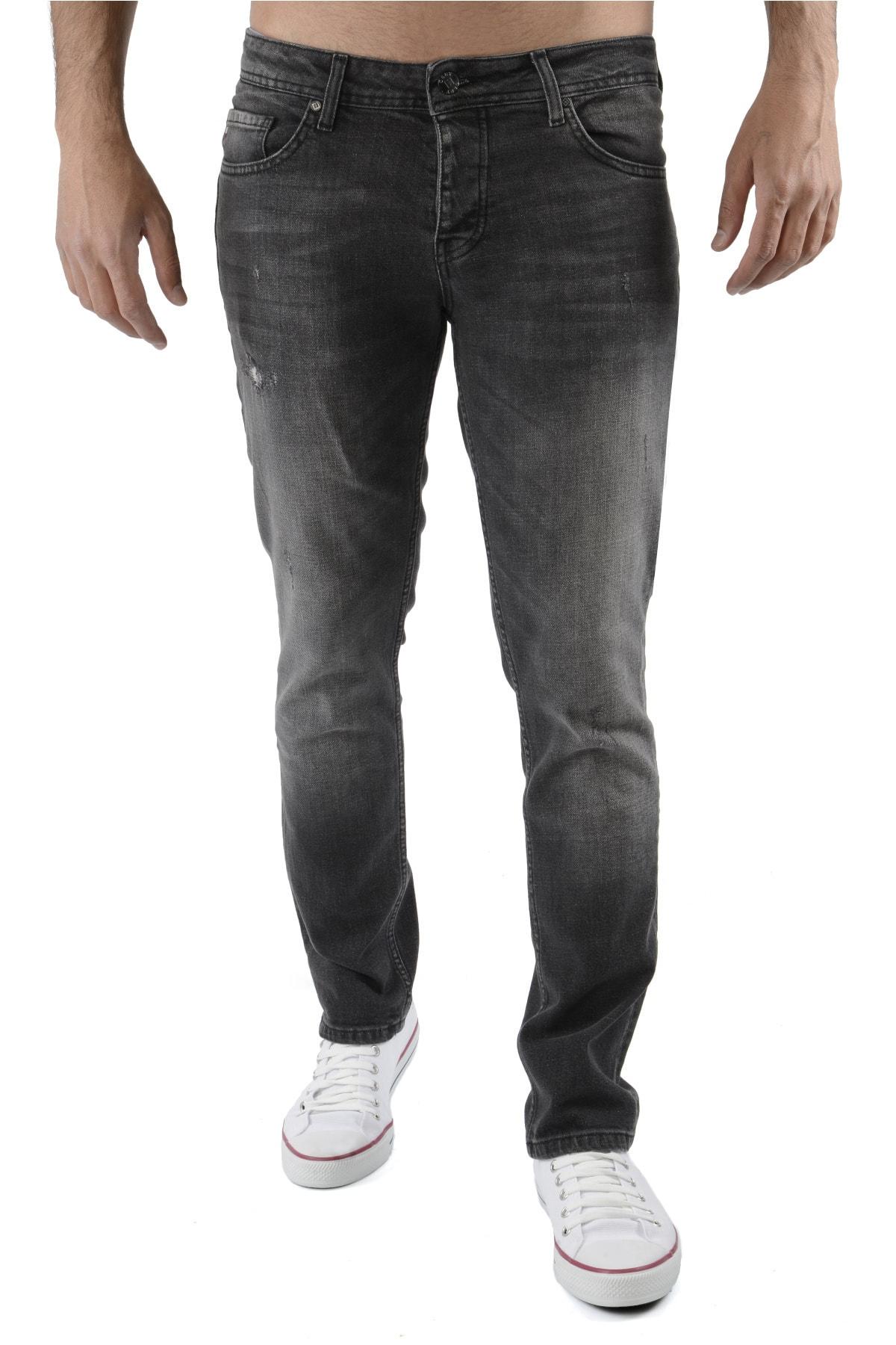 Erkek Antrasit Kot Pantolon Slim Fit Jean - C326