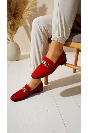 Kadın Kırmızı Süet Merlin Ayakkabı Merlin Kırmızı Süet Ayakkabı