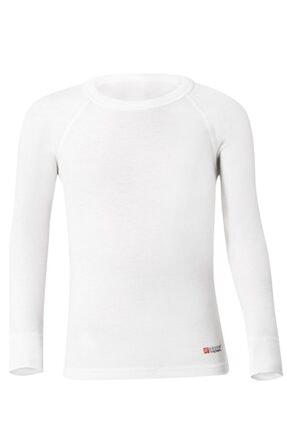 Unisex Çocuk Ekru Uzun Kollu Termal Giyim resmi