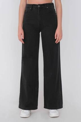 Addax Kadın Gri Bol Paça Pantolon Pn216 - Pni 1