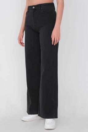Addax Kadın Gri Bol Paça Pantolon Pn216 - Pni 2