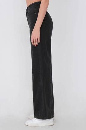Addax Kadın Gri Bol Paça Pantolon Pn216 - Pni 3