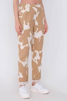 Addax Kadın Kahverengi Desenli Pantolon Pn03-0062 - 1