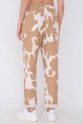 Addax Kadın Kahverengi Desenli Pantolon Pn03-0062 - 4