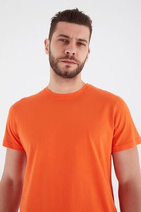 Fashion Friends Bisiklet Yaka T-shirt Turuncu 1