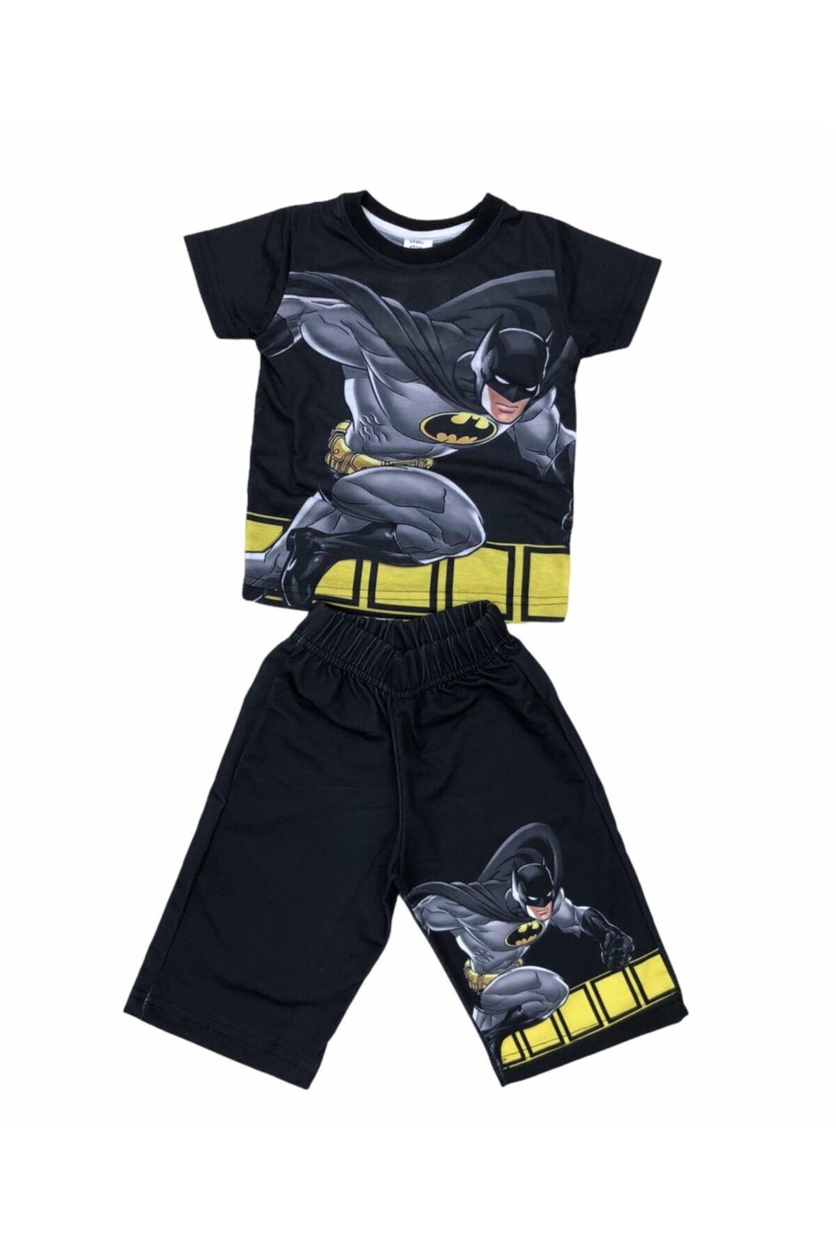 Erkek Çocuk Siyah Batman Alt Üst Takım