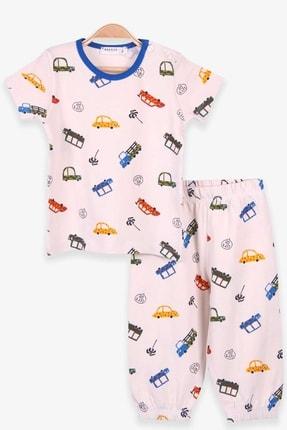 Picture of Erkek Bebek Krem Araba Desenli Pijama Takımı
