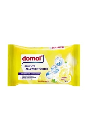 Domol Islak Temizlik Bezi Çok Amaçlı, Limon Kokulu 50 Adet 0