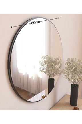 MONEayna Dekoratif Siyah Yuvarlak Duvar Ayna 2