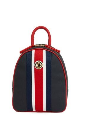 US Polo Assn Lacıvert-kırmızı Kadın Sırt Çantası Us8221 1
