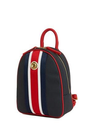 US Polo Assn Lacıvert-kırmızı Kadın Sırt Çantası Us8221 2