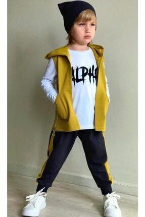 Erkek Çocuk Alpha Olive Cepkenli Eşofman Takım resmi