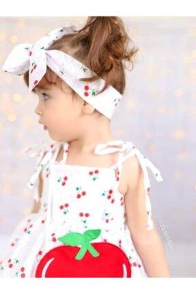Riccotarz Kız Çocuk Beyaz Cherry Kirazlı Elbise 4