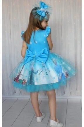 Riccotarz Kız Çocuk Karlar Kraliçesi Mavi Elbise 1