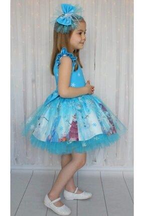 Riccotarz Kız Çocuk Karlar Kraliçesi Mavi Elbise 2