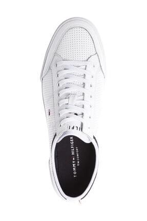 Tommy Hilfiger Erkek Beyaz Casual Ayakkabı Core Corporate Deri Sneaker FM0FM00552 2